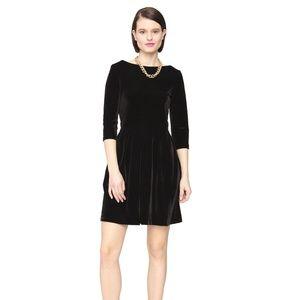 NWT Leota Pleated Skirt Ilana in Black Velvet
